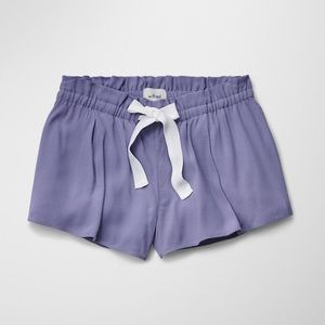 WILFRED | Montrouge Flowy Crepe Purple Tie Shorts